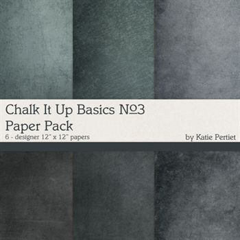 Chalk It Up Basics Paper Pack No.3 Digital Art - Digital Scrapbooking Kits