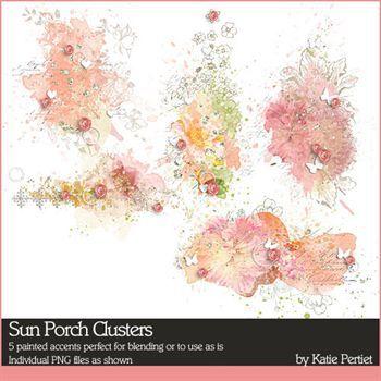 Sun Porch Clusters Digital Art - Digital Scrapbooking Kits