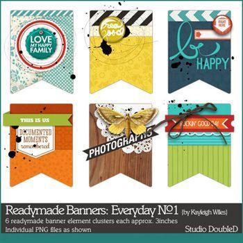 Readymade Banners Everyday No.1 Digital Art - Digital Scrapbooking Kits