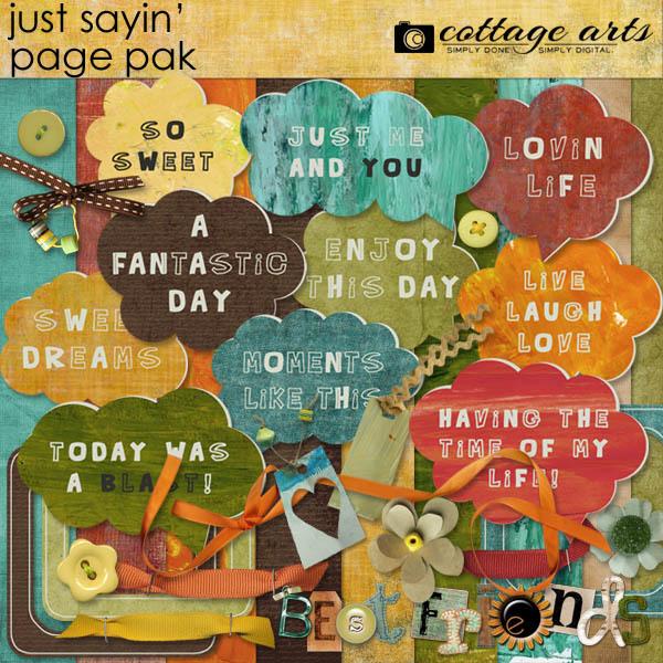 Just Sayin' Page Pak Digital Art - Digital Scrapbooking Kits