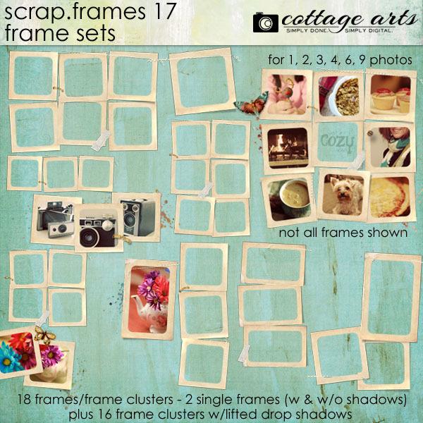 Scrap.frames 17 - Frame Sets Digital Art - Digital Scrapbooking Kits