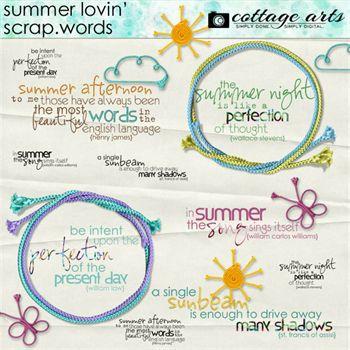 Summer Lovin' Scrap.words Digital Art - Digital Scrapbooking Kits