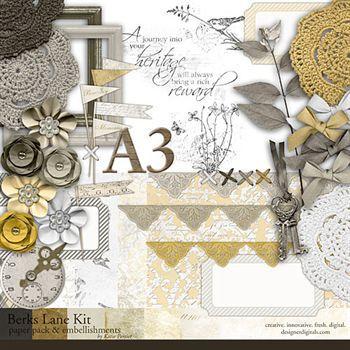 Berks Lane Kit Digital Art - Digital Scrapbooking Kits