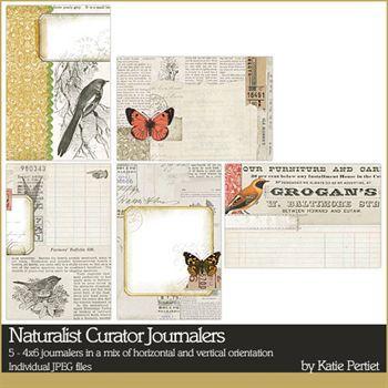 Naturalist Curator Journalers Digital Art - Digital Scrapbooking Kits