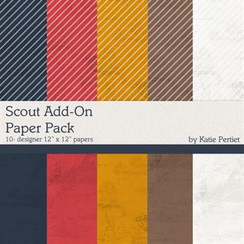 Scout Add-on Paper Pack Digital Art - Digital Scrapbooking Kits