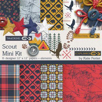 Scout Mini Kit Digital Art - Digital Scrapbooking Kits