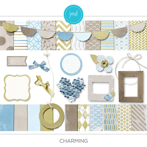Charming Digital Art - Digital Scrapbooking Kits