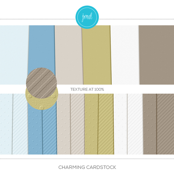 Charming Cardstock Digital Art - Digital Scrapbooking Kits