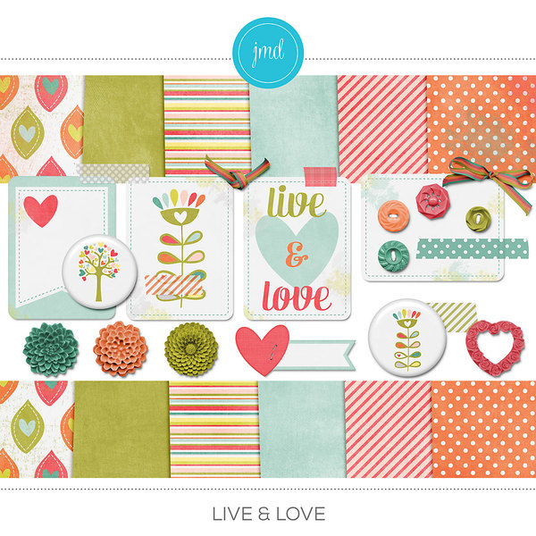 Live & Love Digital Art - Digital Scrapbooking Kits