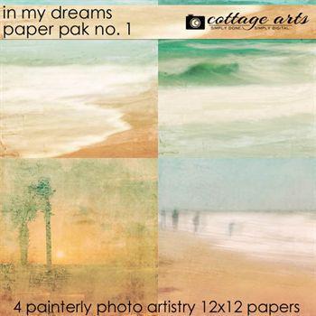 In My Dreams 1 Paper Pak Digital Art - Digital Scrapbooking Kits