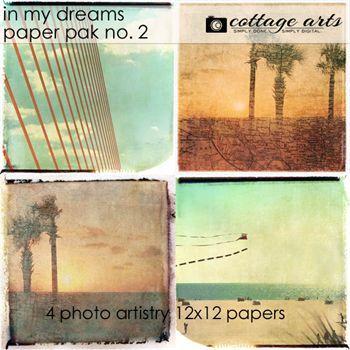 In My Dreams 2 Paper Pak Digital Art - Digital Scrapbooking Kits