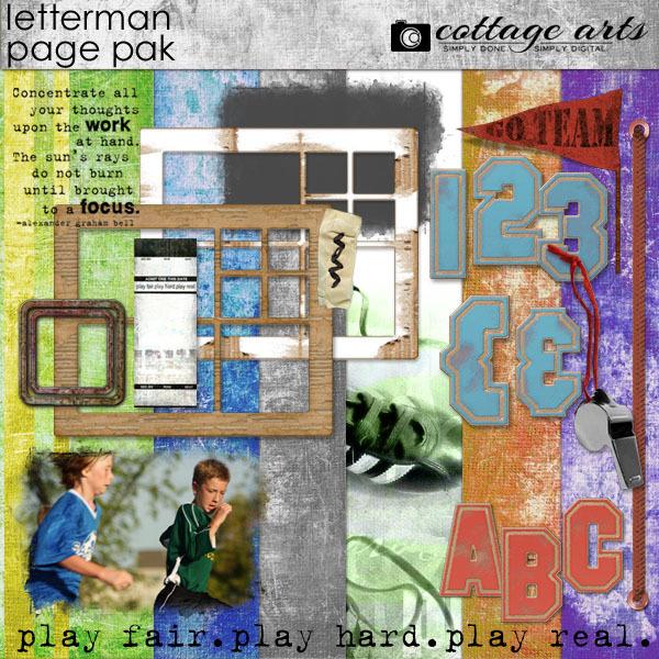 Letterman Page Pak  Digital Art - Digital Scrapbooking Kits