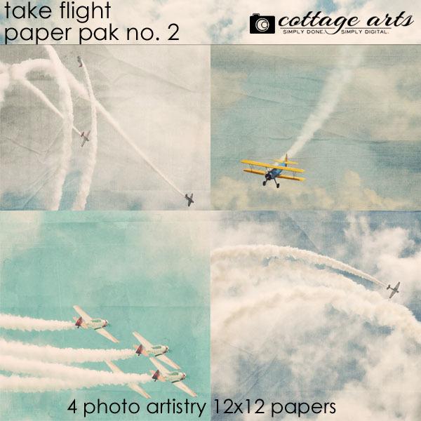 Take Flight 2 Paper Pak Digital Art - Digital Scrapbooking Kits