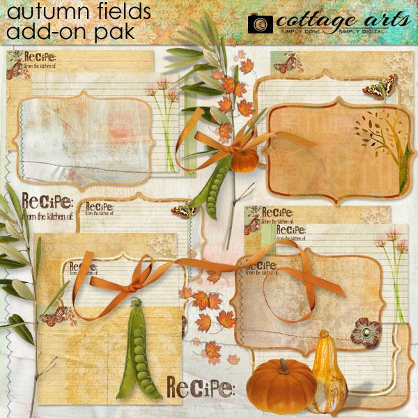Autumn Fields Add-on Pak Digital Art - Digital Scrapbooking Kits