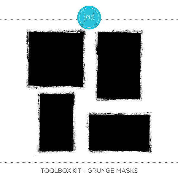 Toolbox Kit - Grunge Masks Digital Art - Digital Scrapbooking Kits