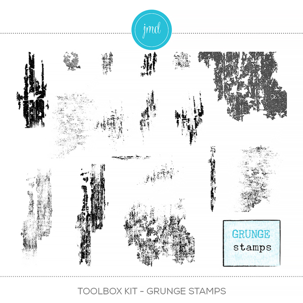 Toolbox Kit - Grunge Stamps Digital Art - Digital Scrapbooking Kits