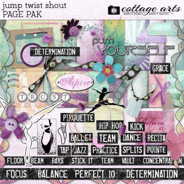 Jump Twist Shout Page Pak Digital Art - Digital Scrapbooking Kits