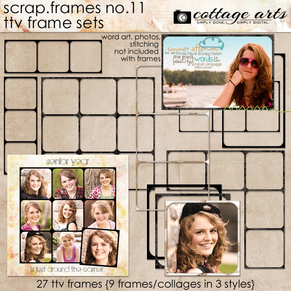 Scrap.Frames 11 – TTV Frame Sets Digital Art - Digital Scrapbooking Kits