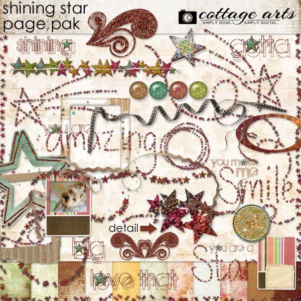 Shining Star Page Pak Digital Art - Digital Scrapbooking Kits