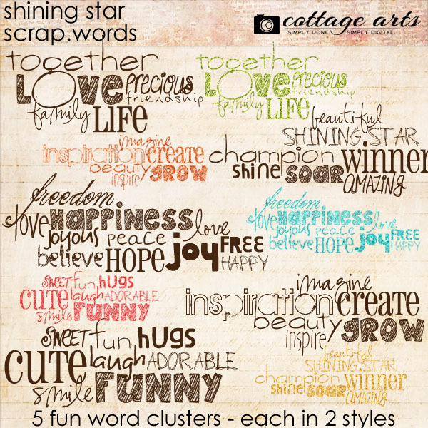 Shining Star Scrap.words Digital Art - Digital Scrapbooking Kits