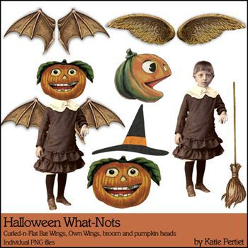 Halloween What Nots Digital Art - Digital Scrapbooking Kits