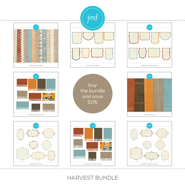 Harvest Bundle Digital Art - Digital Scrapbooking Kits