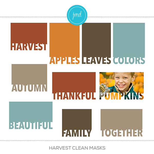 Harvest Clean Masks Digital Art - Digital Scrapbooking Kits
