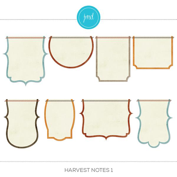 Harvest Notes 1 Digital Art - Digital Scrapbooking Kits