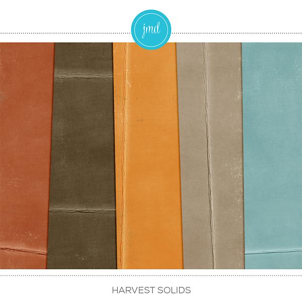 Harvest Solids Digital Art - Digital Scrapbooking Kits