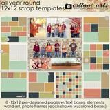 All Year Round 12x12 Scrap.templates