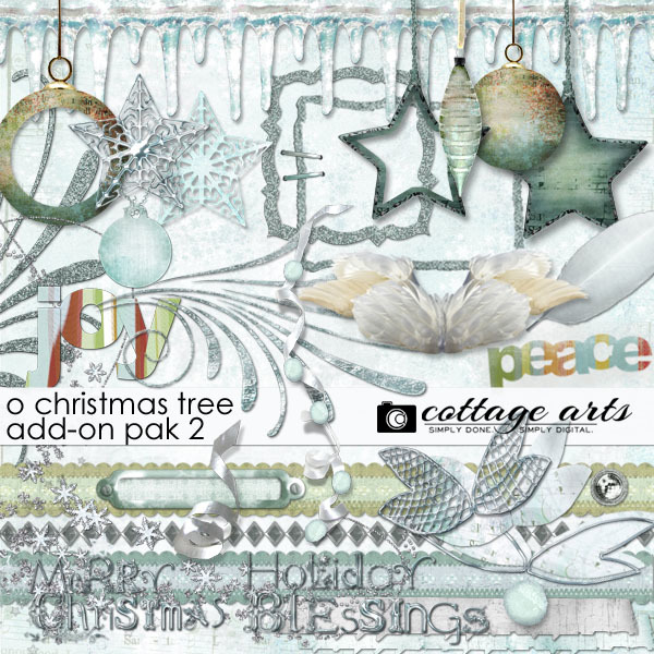 O Christmas Tree Add-on Pak2 Digital Art - Digital Scrapbooking Kits