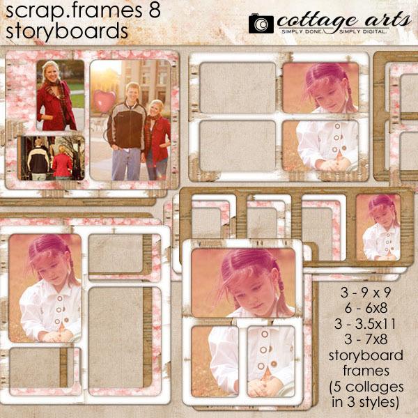 Scrap.frames 8 - Storyboards Digital Art - Digital Scrapbooking Kits