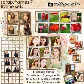 Scrap.frames 7 - Frame Sets Digital Art - Digital Scrapbooking Kits