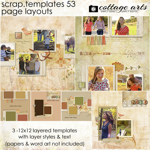 12 X 12 Scrap.templates 53 - Page Layouts