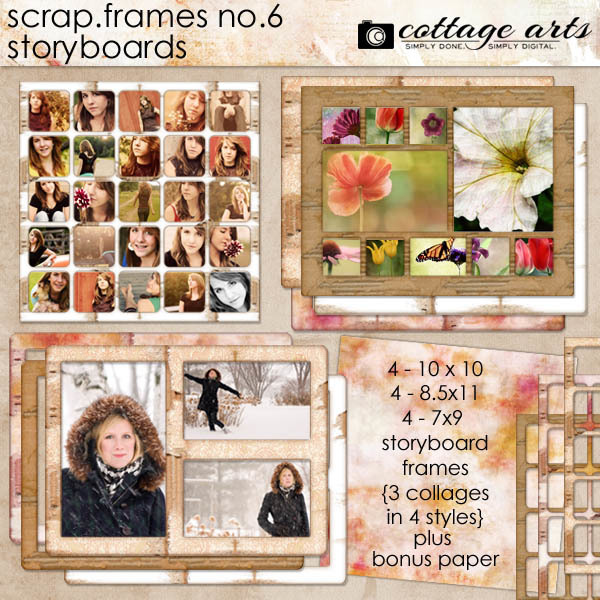 Scrap.Frames 6 – Storyboards  Digital Art - Digital Scrapbooking Kits