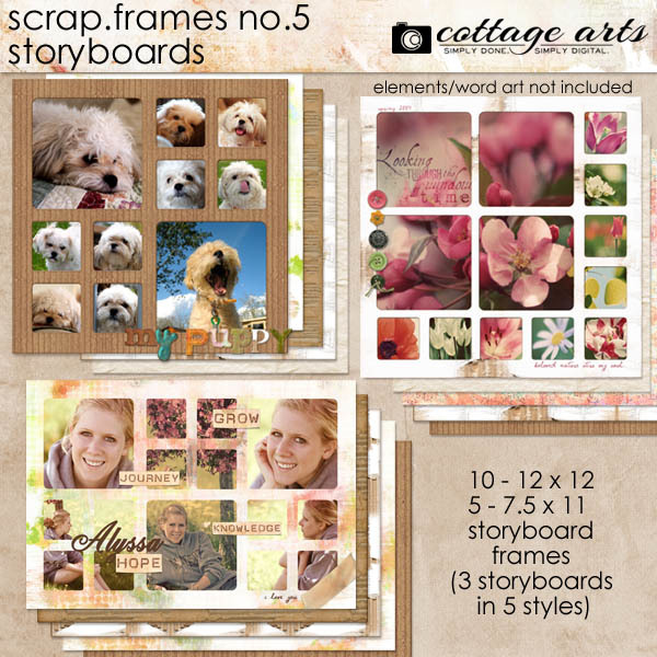 Scrap.Frames 5 – Storyboards Digital Art - Digital Scrapbooking Kits