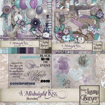 A Midnight Kiss Bundle Digital Art - Digital Scrapbooking Kits