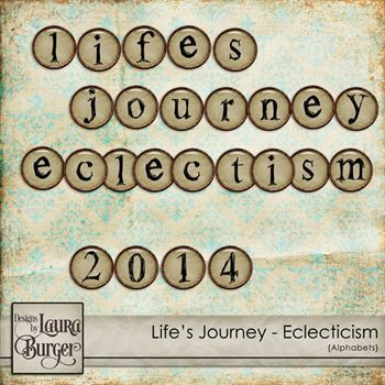 Lifeâ€s Journey €Eclecticisms Alphabet Set Digital Art - Digital Scrapbooking Kits