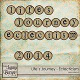 Lifeâ€s Journey €Eclecticisms Alphabet Set