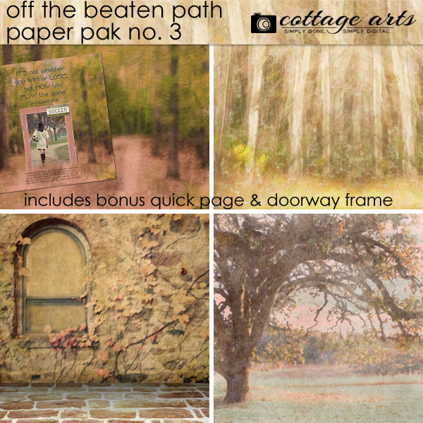 Off The Beaten Path 3 Paper Pak Digital Art - Digital Scrapbooking Kits