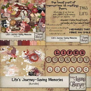 Life's Journey- Saving Memories Bundle Digital Art - Digital Scrapbooking Kits