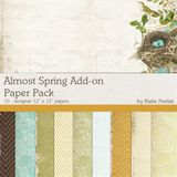 Almost Spring Add-on Paper Pack