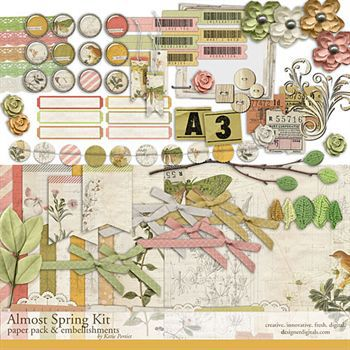 Almost Spring Kit Digital Art - Digital Scrapbooking Kits