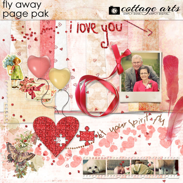 Fly Away Page Pak Digital Art - Digital Scrapbooking Kits