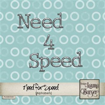 Need For Speed Alphabet Set Digital Art - Digital Scrapbooking Kits