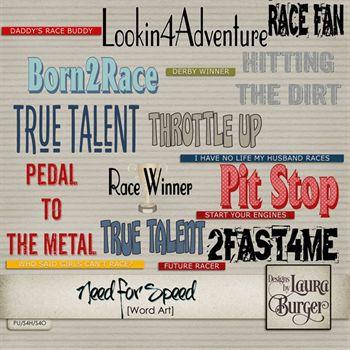 Need For Speed Word Art Digital Art - Digital Scrapbooking Kits