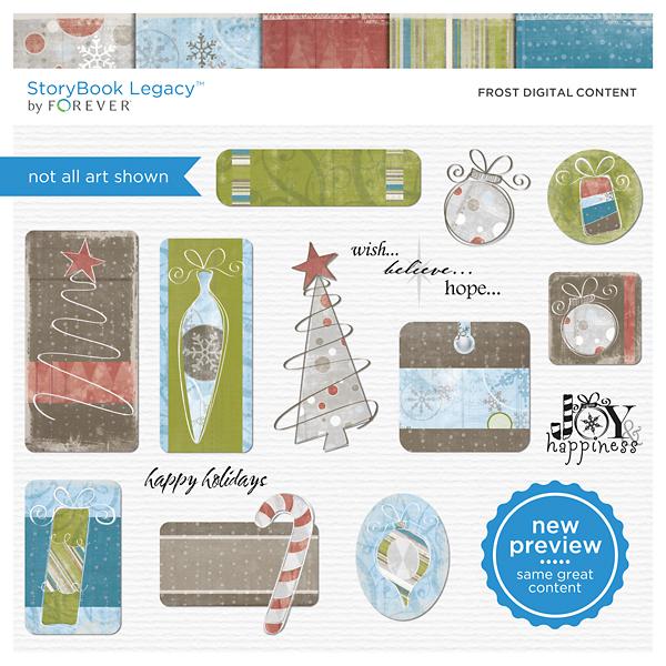Frost Digital Content Digital Art - Digital Scrapbooking Kits