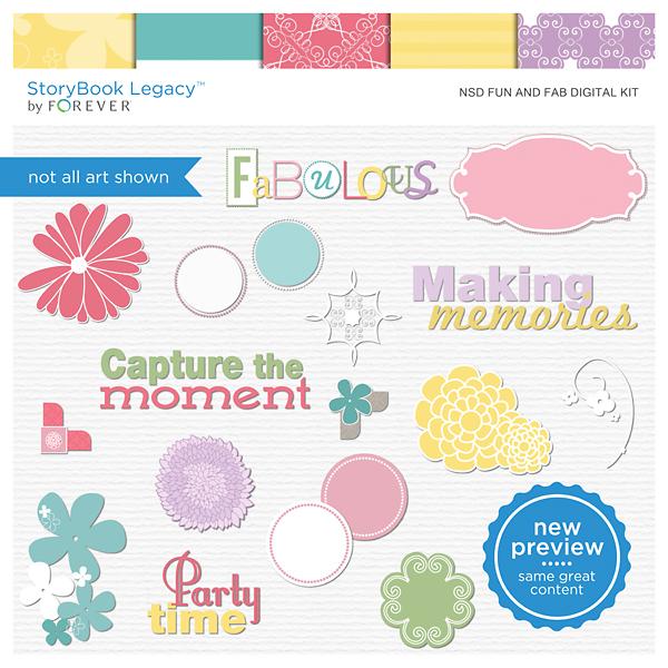 NSD Fun And Fab Digital Kit Digital Art - Digital Scrapbooking Kits