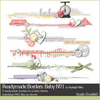 Readymade Borders Baby No.1 Digital Art - Digital Scrapbooking Kits