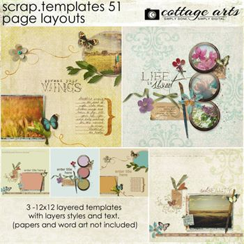 12 X 12 Scrap.templates 51 - Page Layouts Digital Art - Digital Scrapbooking Kits